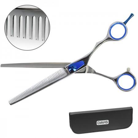 Davis Extreme Edge Blue Thinning Профессиональные филировочные ножницы для стрижки собак и кошек 21 см