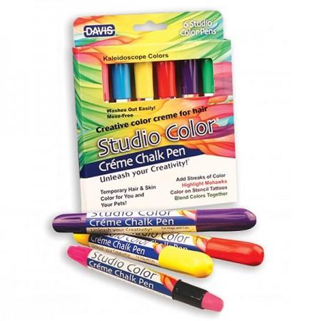Davis (Дэвис) Kaleidoscope Colors Калейдоскоп Цветов красящие мелки для шерсти волос кожи 6 цветов