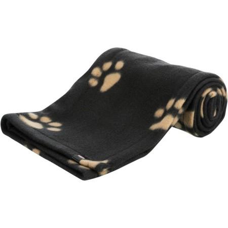 Trixie Beany Blanket подстилка плед для собак, черный с лапкой