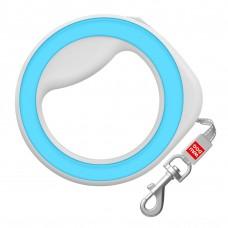 Поводок-рулетка круглая WAUDOG Blue для собак до 40 кг
