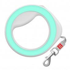 Поводок-рулетка круглая WAUDOG Green для собак до 40 кг