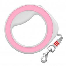 Поводок-рулетка круглая WAUDOG Pink для собак до 40 кг