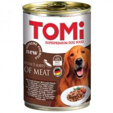 TOMi (Томи) 5 kinds of meat 5 видов мяса консервы корм для собак банка 400 г