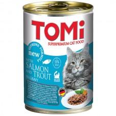 TOMi (Томи) Salmon Trout влажный корм для кошек Лосось Форель 400 г