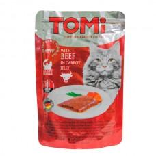 TOMi (Томи) Beef in carrot jelly влажный корм для кошек Говядина в морковном желе 100 г