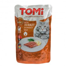 TOMi (Томи) Turkey in spinach jelly влажный корм для кошек Индейка в шпинатном желе 100 г