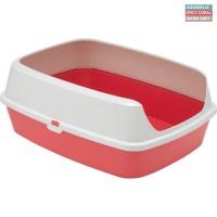 Moderna Maryloo Spicy Coral туалет для кошек с бортиком (50371)