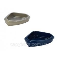 Moderna Corner tray (Модерна Кози) угловой туалет с бортиком для котов 55х45х14 см
