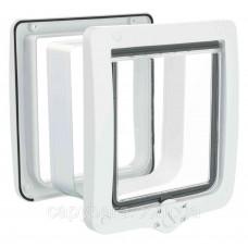 Trixie (Трикси) 4-Way Flap Door XL with Tunnel Дверца для больших кошек с туннелем пластик 24 × 28 см