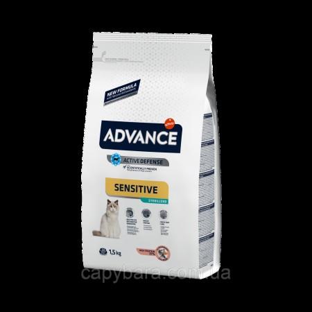 Advance (Эдванс) Cat Sterilized Salmon Sensitive корм для стерилизованных кошек c лососем 1.5 кг
