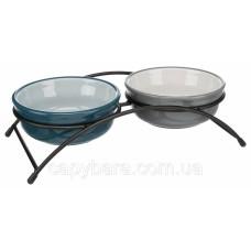 Trixie (Трикси) Ceramic Bowl Set Набор мисок для собак и кошек на подставке 2 х 250 мл