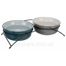 Trixie (Трикси) Ceramic Bowl Set Набор мисок для собак и кошек на подставке 2 х 1600 мл