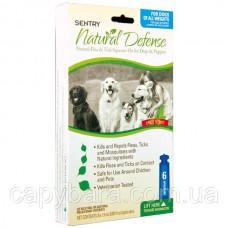 Sentry (Сентри) Natural Defense натуральная защита капли от блох и клещей для собак и щенков (6 шт)