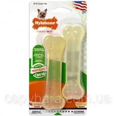 Nylabone (Нилабон) Flexi Chew Twin Pack жевательная игрушка для собак до 7 кг с умеренным стилем грызения