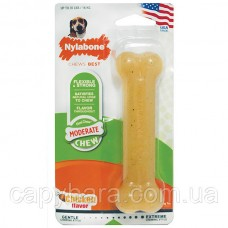 Nylabone (Нилабон) Flexi Chew Wolf жевательная игрушка кость для собак до 16 кг вкус курицы