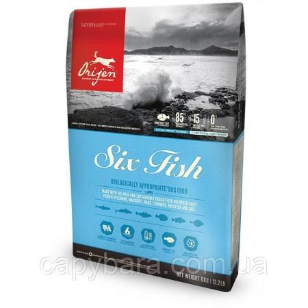 Orijen (Ориджен) Six Fish 6 рыб корм для собак на основе рыбы 2 кг