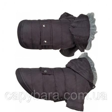 Karlie Flamingo (Карле Фламинго) Polar Black Полар одежда для собак куртка с капюшоном 34 см