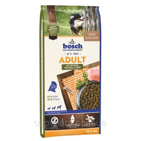 Bosch (Бош) Adult with Fresh Poultry & Millet корм для собак с Птицей и Просом (3 кг)