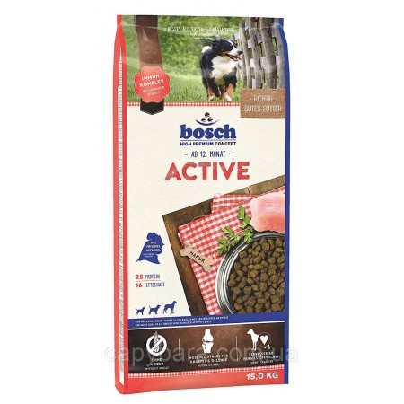 Bosch (Бош) Active корм для собак с повышенным уровнем активности (3 кг)
