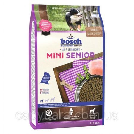 Bosch (Бош) Mini Senior корм для собак малых пород старше 7 лет (2.5 кг)