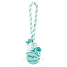 Trixie (Трикси) Denta Fun Playing Rope with Ball игрушка для собак массажер для десен мятный вкус 7 х 24 см