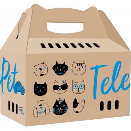 TelePet (ТелеПэт) Переноска для собак и кошек картонная 46 х 22 х 44 см